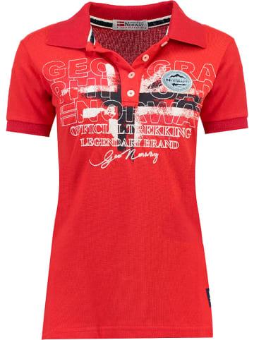 """Geographical Norway Koszulka polo """"Kerry"""" w kolorze czerwonym"""