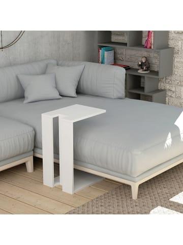 "Scandinavia Concept Beistelltisch ""Muju"" in Weiß - (B)40 x (H)57 x (T)30 cm"