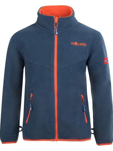 "Trollkids Fleecejacke ""Oppdal""  in Orange/ Blau"