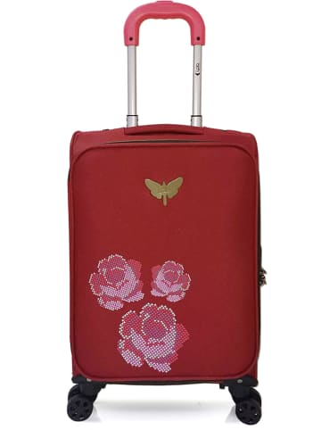 """Les P´tites Bombes Softcase-Trolley """"Joanna"""" in Rot - (B)35 x (H)55 x (T)23 cm"""