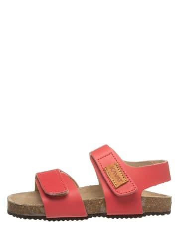 """KAVAT Skórzane sandały """"Bomhus"""" w kolorze czerwonym"""
