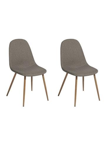 Velini Krzesło (2 szt.) w kolorze szarym - (S)44 x (W)84 x (G)42,5 cm