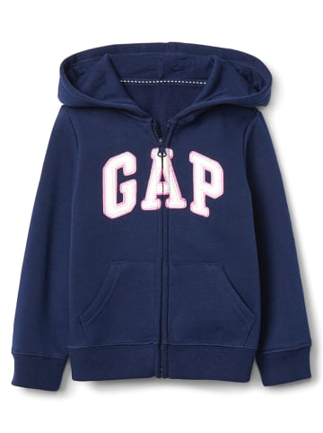 GAP Sweatjacke in Blau/ Dunkelblau