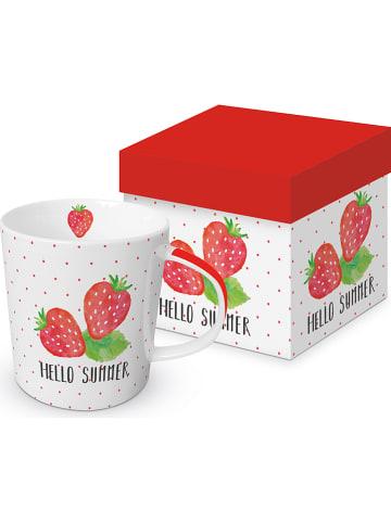 "Ppd Kubek jumbo ""Hello Summer"" w kolorze biało-czerwonym - 350 ml"