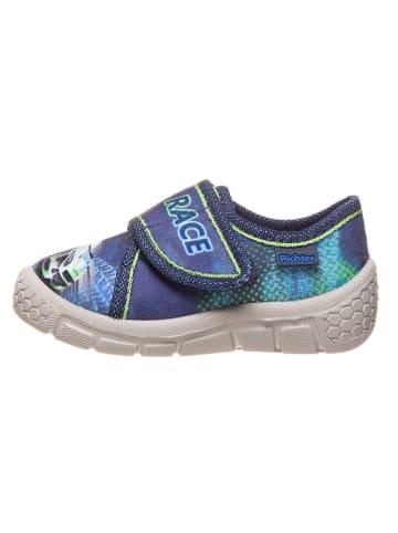 Richter Shoes Hausschuhe in Blau/ Grün