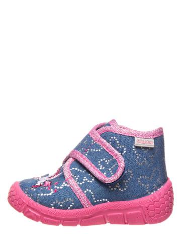 Richter Shoes Pantoffels blauw/roze