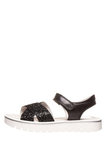 Richter Shoes Leder-Sandalen in Schwarz