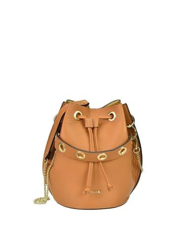 BOSCCOLO Skórzana torebka w kolorze brązowym - (S)20 x (W)26 x (G)20 cm