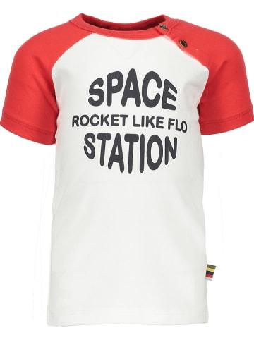 Like Flo Shirt crème/rood