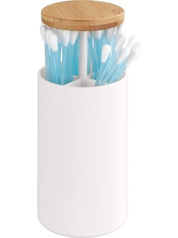 """Wenko Pudełko """"Laresa"""" w kolorze białym na patyczki - wys. 11,5 x Ø 6,5 cm"""