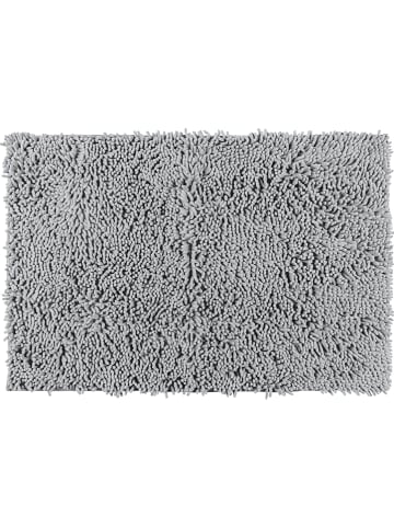 "Wenko Hoogpolige badmat ""Chenille"" lichtgrijs - (L)80 x (B)50 cm"