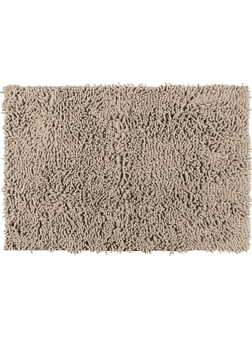 "Wenko Hoogpolige badmat ""Chenille"" zandkleurig - (L)80 x (B)50 cm"