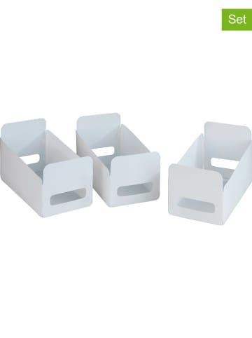 Wenko 3er-Set: Aufbewahrungsboxen in Weiß - (B)30 x (H)18 x (T)15 cm