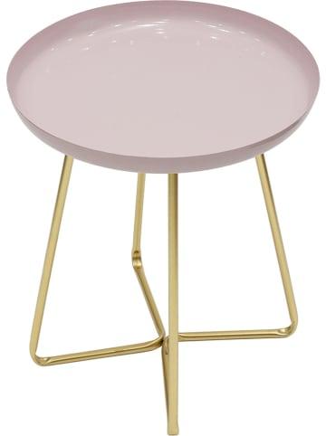 Rétro Chic Stolik w kolorze jasnoróżowym - wys. 48,5 x Ø 40 cm