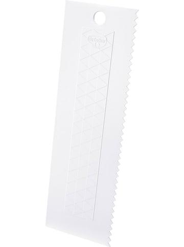Dr. Oetker Szpatułka w kolorze białym do tortów - 7 x 23 cm
