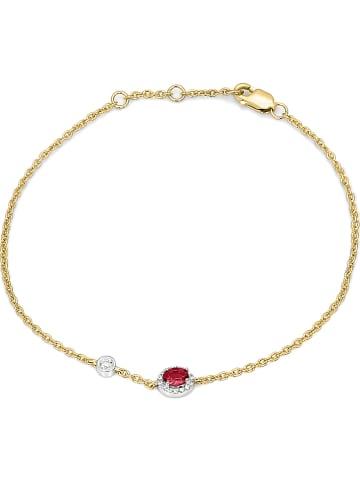 Vittoria Jewels Złota bransoletka z diamentami i rubinem