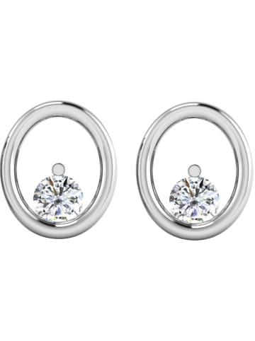Diamant Vendôme Witgouden oorstekers met diamanten