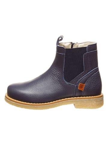 BO-BELL Leder-Chelsea-Boots in Dunkelblau