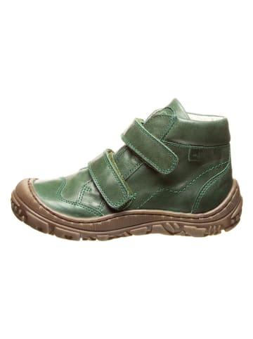 BO-BELL Leder-Ankle Boots in Grün