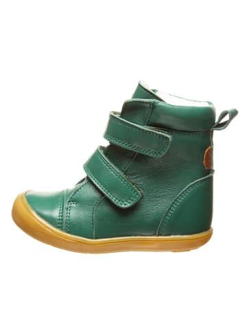 BO-BELL Leder-Boots in Grün