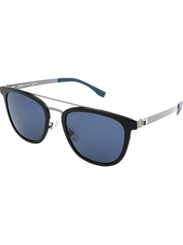Hugo Boss Dameszonnebril zwart-zilverkleurig/blauw