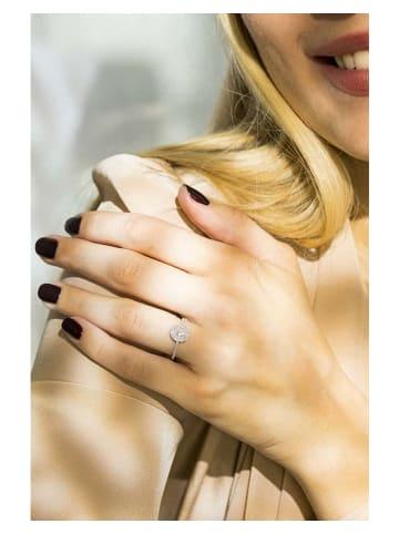 """DIAMOND & CO Witgouden ring """"Beauty Queen"""" met diamanten"""