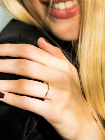 """DIAMOND & CO Złoty pierścionek """"Alliance Divine"""" z diamentami"""