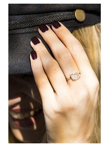 """DIAMOND & CO Roségold-Ring """"Quartissime"""" mit Diamanten"""