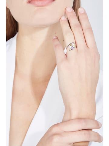 """DIAMOND & CO Weißgold-Ring """"Color Explosion"""" mit Diamant und Edelsteinen"""