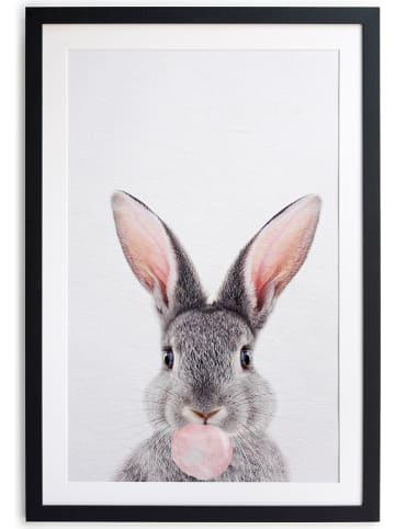 "Little nice things Gerahmter Kunstdruck ""Rabbit Bubble Gum"" - (B)30 x (H)40 cm"