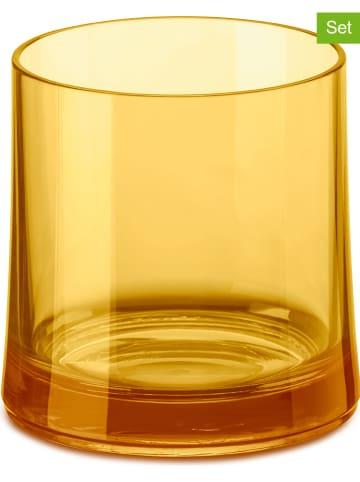 "Koziol 6-delige set: glazen ""Cheers No. 2"" oranje - 250 ml"