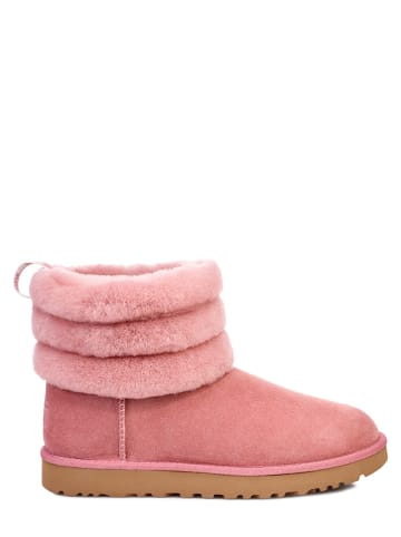 """UGG Lammfell-Winterboots """"Fluff Mini Quilted"""" in Rosa"""