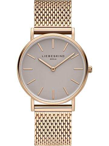 Liebeskind Zegarek kwarcowy w kolorze różowozłoto-szarym