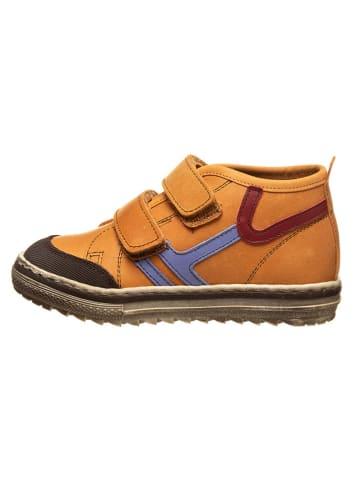 Billowy Leren sneakers oranje