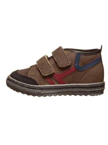 Billowy Skórzane sneakersy w kolorze jasnobrązowo-niebiesko-czerwonym