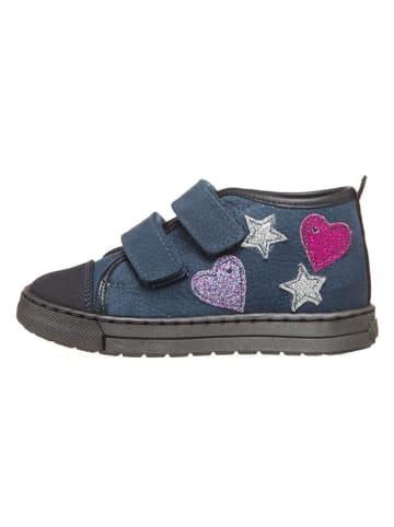 Billowy Skórzane sneakersy w kolorze niebieskim