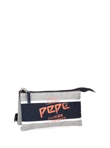 Pepe Jeans Piórnik w kolorze szaro-granatowym - (S)22 x (W)12 x (G)5 cm