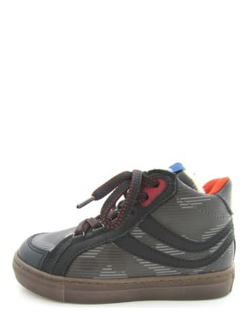 Romagnoli Leder-Sneakers in Anthrazit
