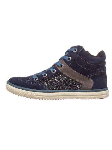 "Lurchi Leder-Sneakers ""Sina"" in Dunkelblau"