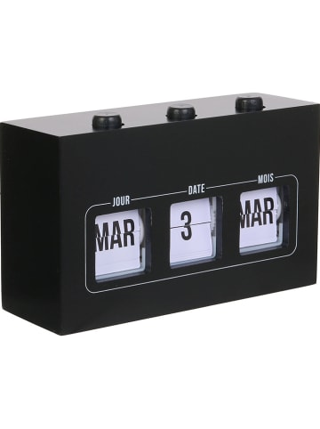 "DOCK avenue Kalender ""Flip Flap"" zwart - (B)19,5 x (H)11 x (D)6,5 cm"