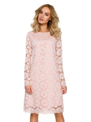 Made of emotion Sukienka w kolorze różowym