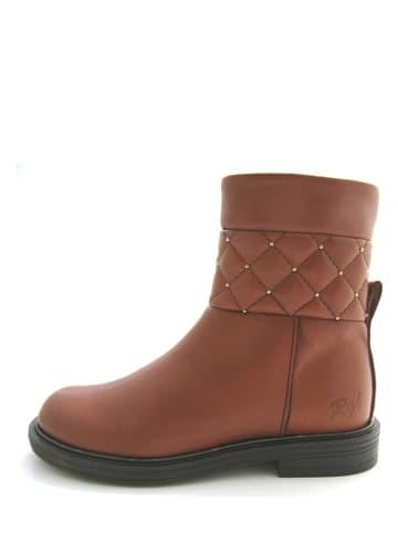 Romagnoli Leder-Boots in Hellbraun
