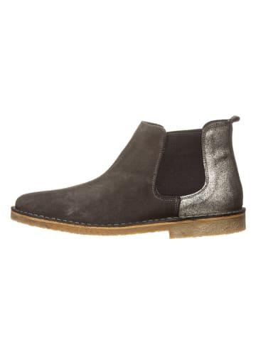 Kmins woman Leder-Chelsea-Boots in Dunkelgrau