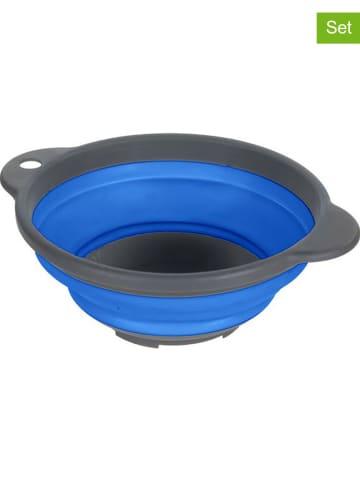 """Regatta 4-delige set: siliconen kommen """"Bowl"""" blauw"""