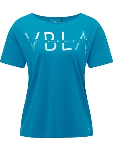"CURVY FIT BY VENICE BEACH Trainingsshirt ""Tiana"" in Blau"