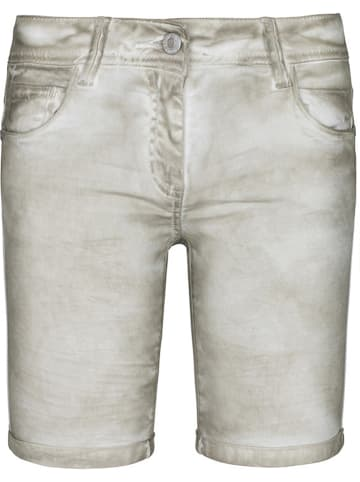 Million X Jeansbermudas in Beige/ Grau