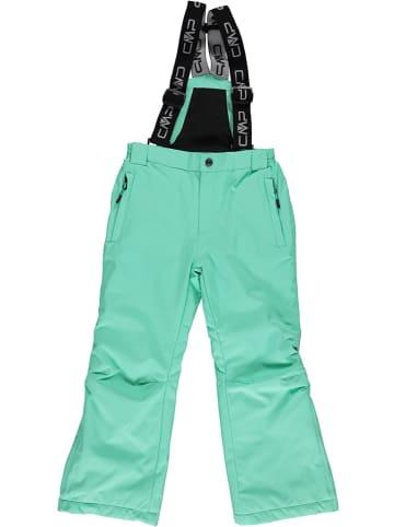 CMP Spodnie narciarskie w kolorze turkusowym