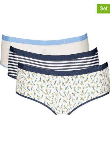 DIM Figi (3 pary) w kolorze niebiesko-kremowym