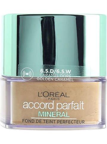 """L'Oréal Paris Puder-Foundation """"Accord Parfait Mineral - 6,5D Golden Caramel"""", 9 g"""