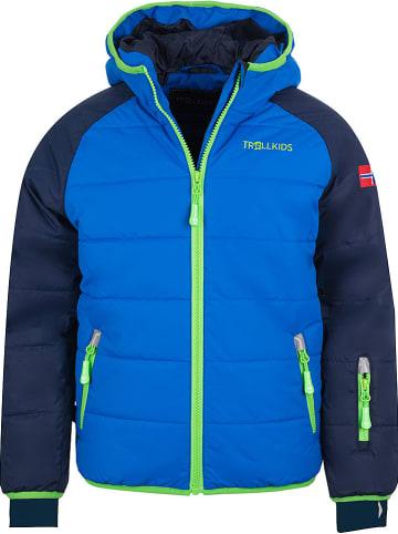 "Trollkids Ski-/ Snowboardjacke ""Hafjell"" in Dunkelblau/ Blau"